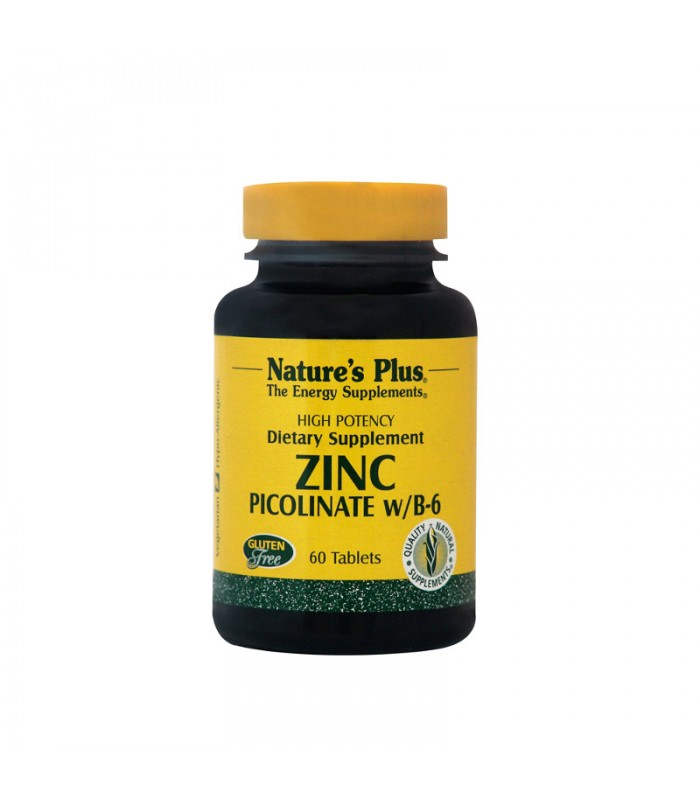 Zink Picolinate Ψευδάργυρος 30mg & Β-6 10mg 60 ταμπλέτες, Nature's Plus