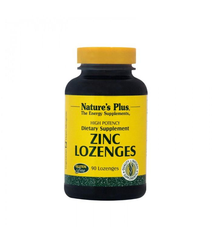 Zing Lonzenes Ψευδάργυρος 15mg Παστίλλιες 90πασ., Nature's Plus