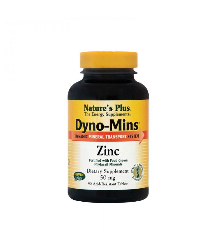 Dyno Mins Zink Ψευδάργυρος 90 ταμπλέτες 50mg, Nature's Plus