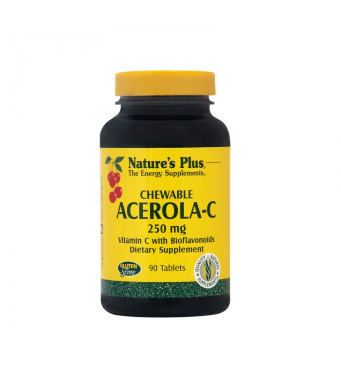 Acerola-C 250mg Παιδική Φόρμουλα 90 Mασώμενες ταμπλέτες, Nature's Plus