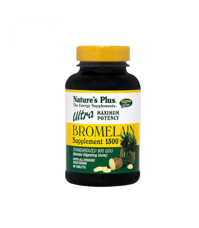 Ultra Bromelain 60 ταμπλέτες 1500mg, Nature's Plus