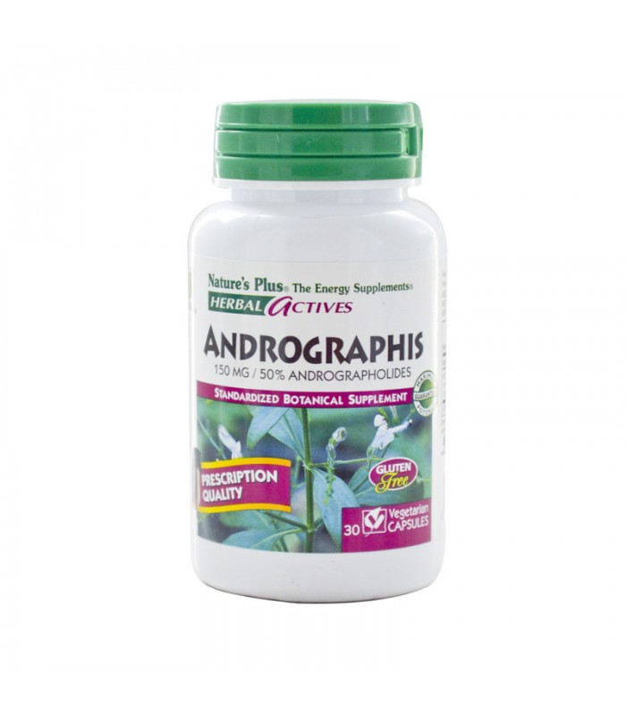 Andrographis 150mg 30 φυτικές κάψουλες, Nature's Plus
