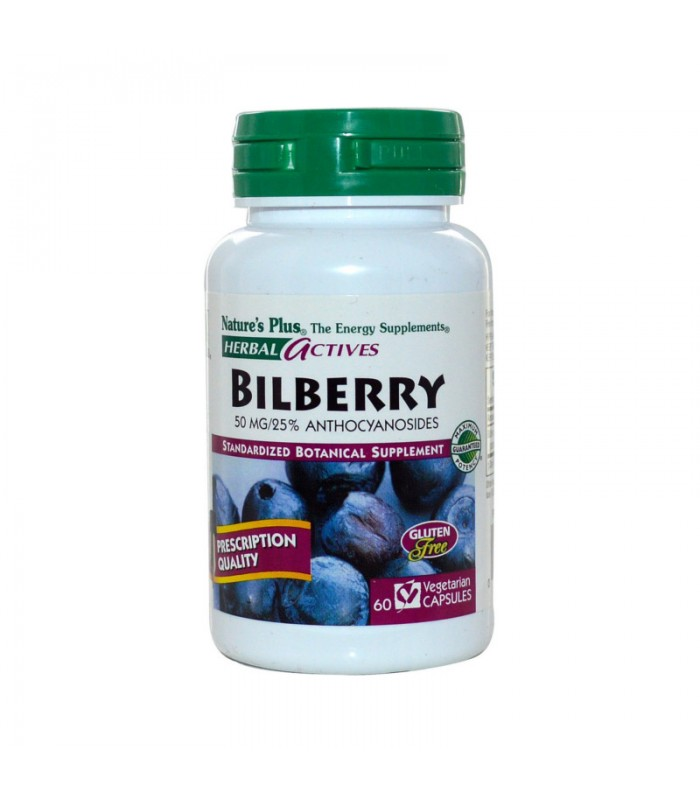 Bilberry Μύρτιλο 50mg 60 φυτικές κάψουλες, Nature's Plus