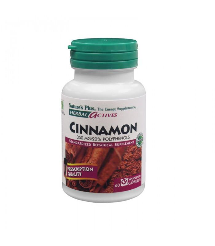 Cinnamon Kανέλα 350mg 60 φυτικές κάψουλες, Nature's Plus