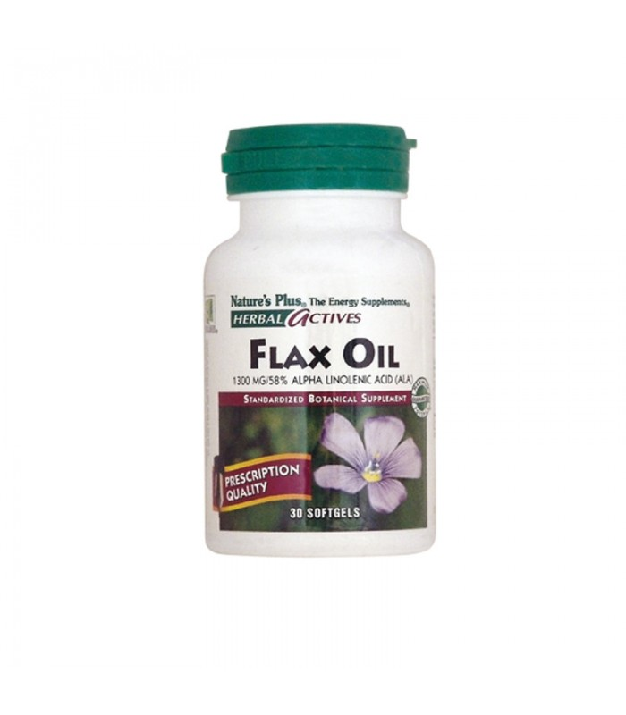 Flax Oil Έλαιο Λιναρόσπορου 1300mg 30 φυτικές κάψουλες, Nature's Plus