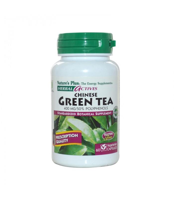 Green Tea 400mg 60 φυτικές κάψουλες, Nature's Plus