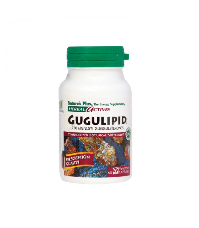 Gugulipid 750mg 60 φυτικές κάψουλες, Nature's Plus
