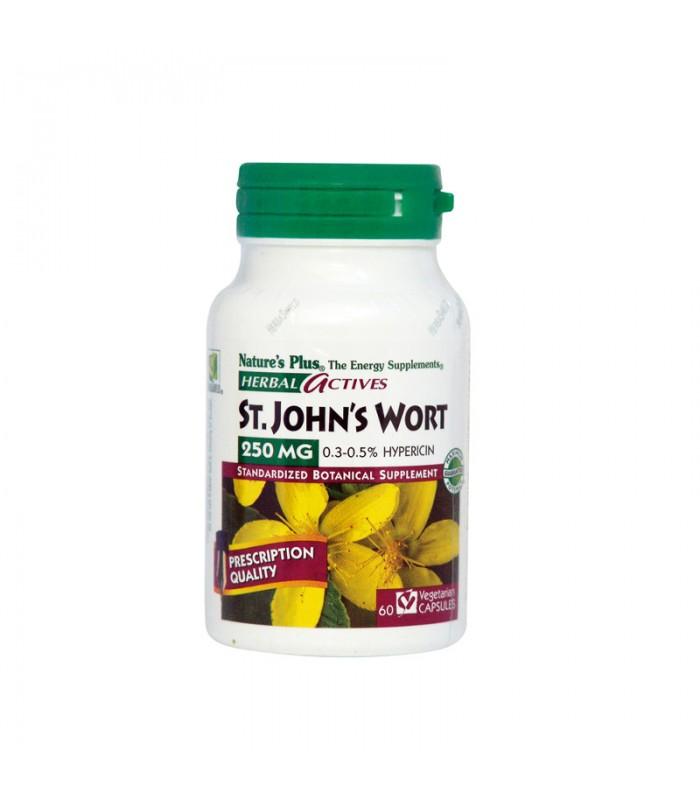 S.John's Wort Υπερικό 250mg 60 φυτικές κάψουλες, Nature's Plus