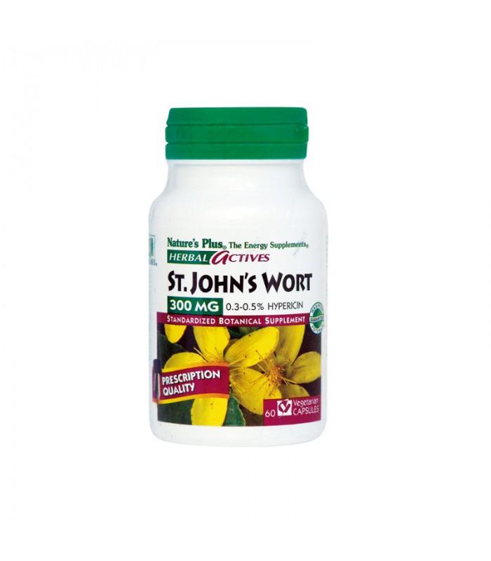 S.John's Wort Υπερικό 300mg 60 φυτικές κάψουλες, Nature's Plus