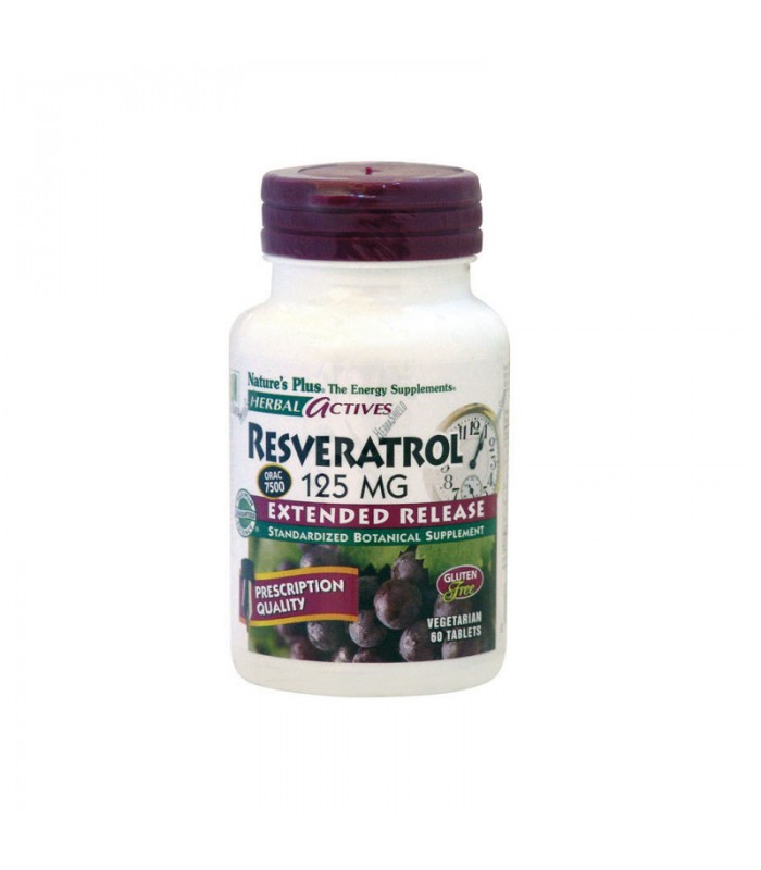 Resveratrol 125mg 60 ταμπλέτες, Nature's Plus