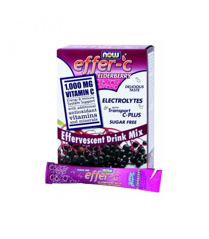 Πολυβιταμίνη EFFER-C Σαμπούκο (Χωρίς Ιώδιο - Χωρίς Ζάχαρη) - Vegetarian 30 Packets, Now