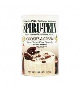 Spiru-Tein Cookies & Cream 525γρ., Nature's Plus