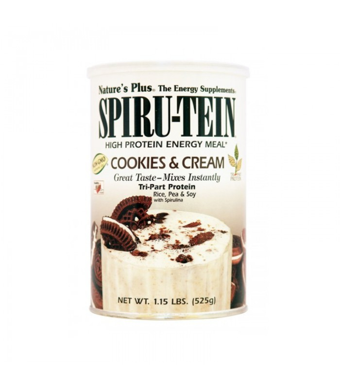 Spiru-Tein Cookies & Cream 544γρ., Nature's Plus