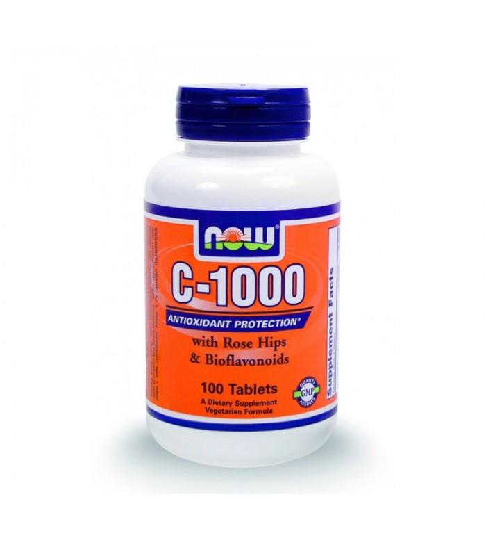 C-1000 w/ Αγριοτριανταφυλλιά & Bio φλαβονοειδή, 100 Tabs, Now
