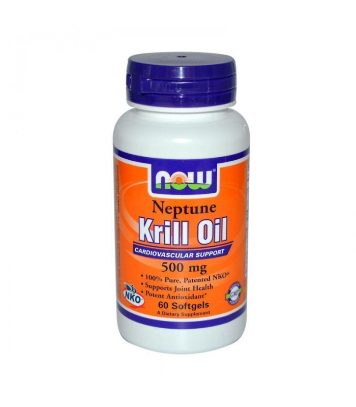Neptune Krill Oil 500mg, (NKO Form) - 60 Softgels, Now