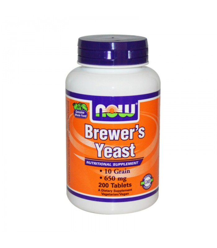 Brewer's Yeast (Μαγιά Μπύρας) 10 Grain 650mg - Vegetarian 200 Tabs, Now
