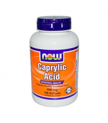 Caprylic Acid (Καπριλικό Οξύ) 600 mg - 100 Softgels