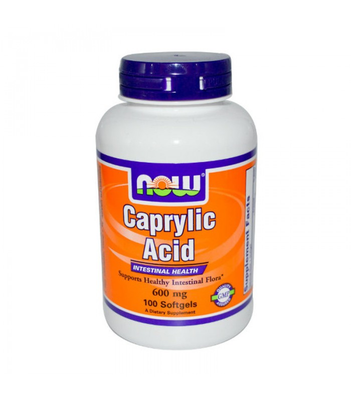 Caprylic Acid (Καπριλικό Οξύ) 600mg - 100 Softgels , Now