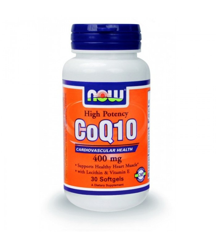 Co Q10 400mg, w/ Βιταμίνη E - 30 Softgels, Now