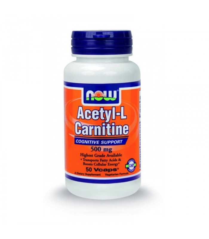Acetyl-L Carnitine 500mg - 50 Vcaps, Now