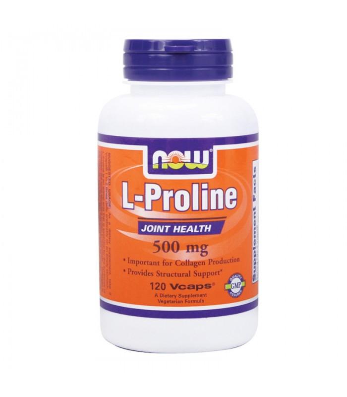 L-Proline 500mg - 120 Vcaps, Now