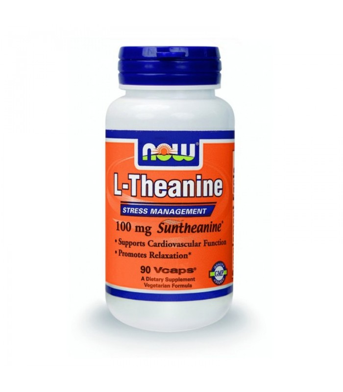 L-Theanine 100mg (Suntheanine + Πράσινο Τσάι) - 90 VCaps, Now