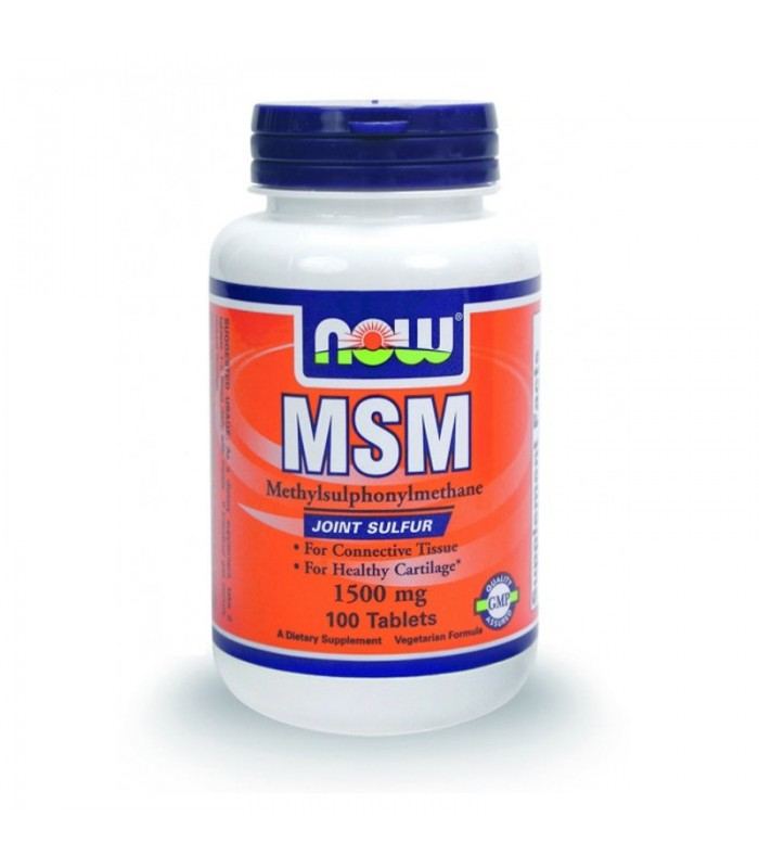 MSM 1500mg - Vegetarian 100 Tabs, Now