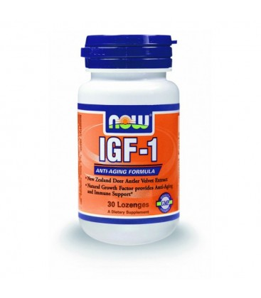 IGF-1 33 mg, New Zealand Deer Antler Velvet Extract - Vegetarian 30 Lozenges