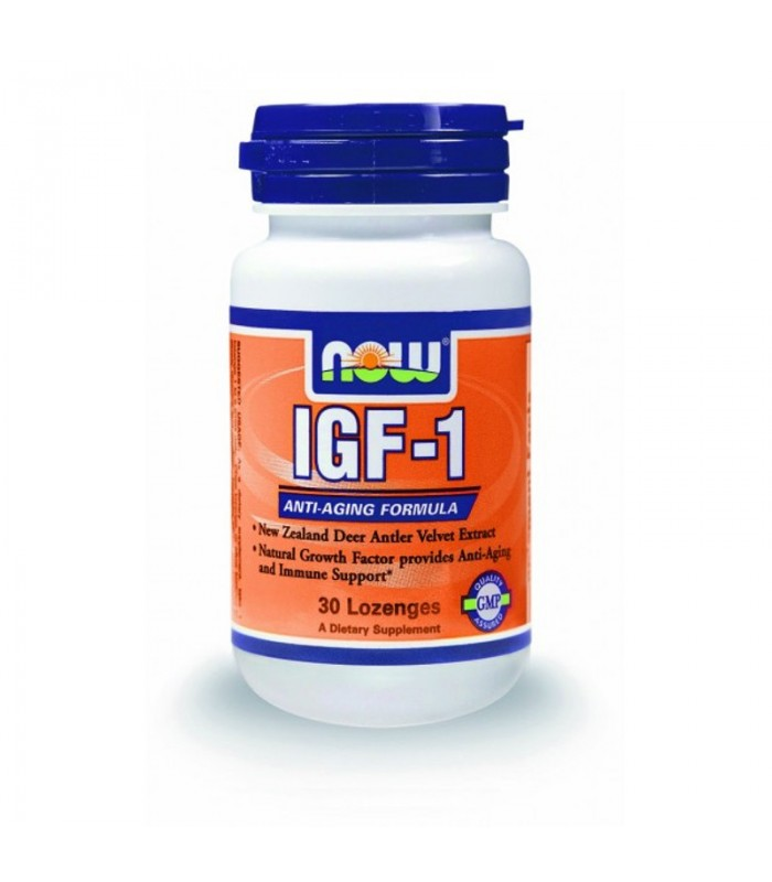 IGF-1 33mg, New Zealand Deer Antler Velvet Extract - Vegetarian 30 Lozenges, Now