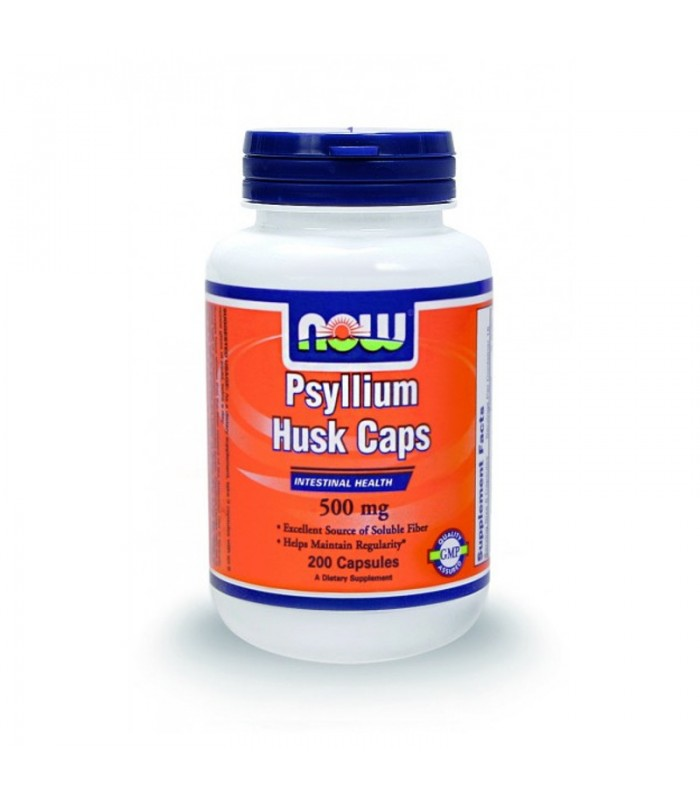 Psyllium Husk Caps 500mg - 200 Caps, Now