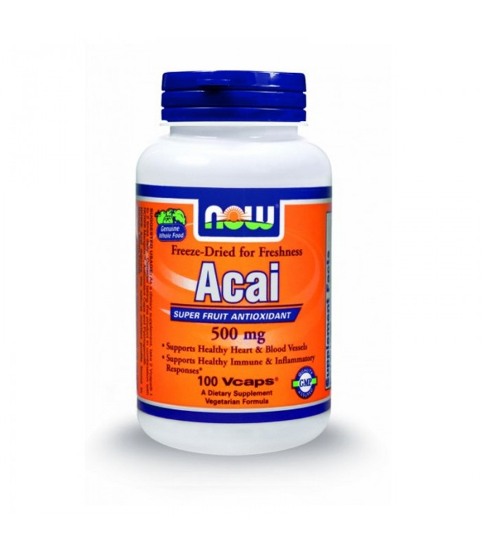 Acai 500 mg - 100 Vcaps, Now