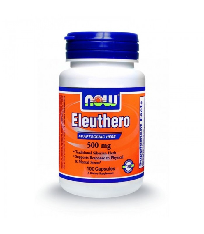 Eleuthero 500mg - 100 Caps, Now