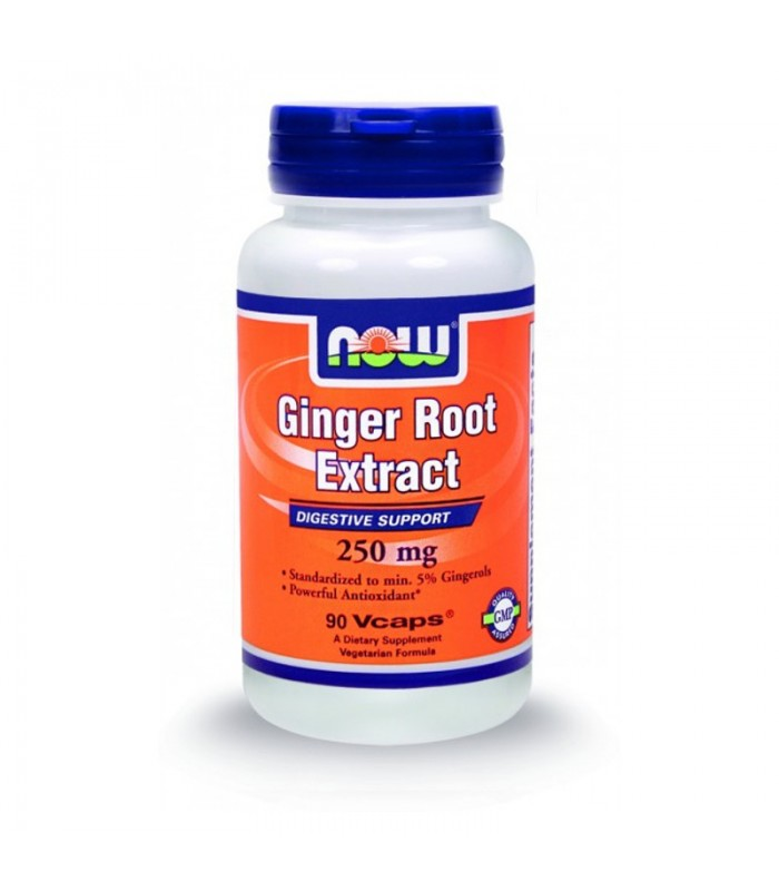 Ginger Root Extract 250mg - 90 Vcaps, Now