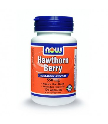 Hawthorn Berry (Κραταιγός) 550 mg - 100 Caps NOW