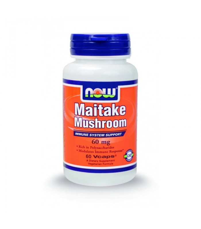 Maitake Mushroom 60mg Standardized Vegetarian - 60 Vcaps, Now