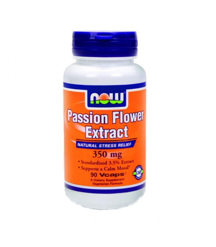 Passion Flower Extract (3,5% Vitexin) 350mg - 90 Vcaps, Now
