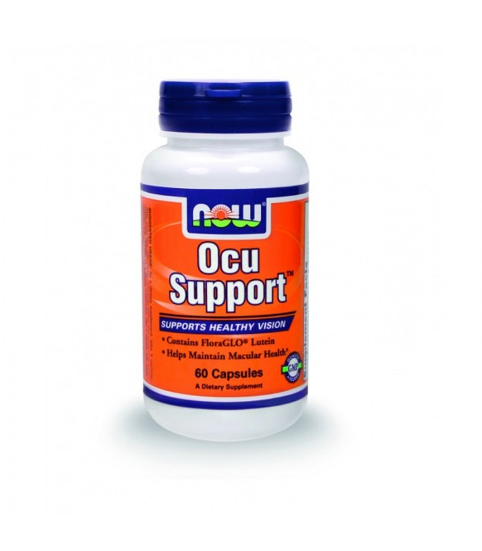 OCU SUPPORT w/ Lutein (Free-Form) 200mg FloraGLO, Zeaxanthin, Glutathione, CoQ10 & much more - 60 Caps, Now