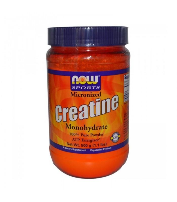Μονοϋδρική Κρεατίνη, Μικροϊονισμένη σε Σκόνη (100% Pure) - Vegetarian 1.1 lbs (500gr), Now