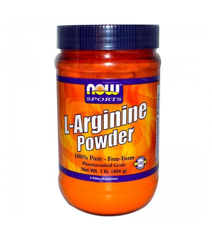 L-Arginine σε Σκόνη, Free Form - 1 lb (454gr), Now