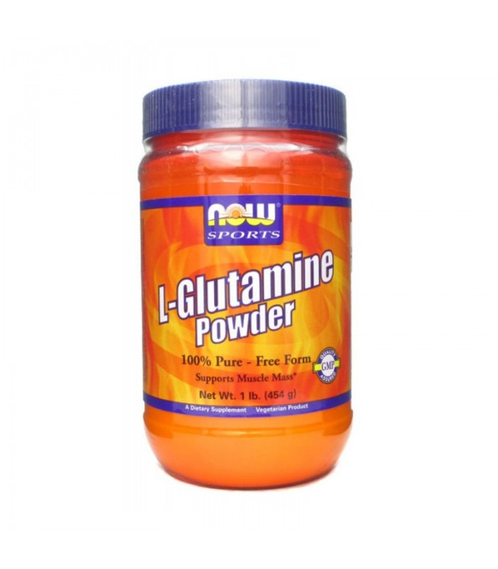 L-Glutamine Pure Powder - Vegetarian 1 lb 454 gr, Now