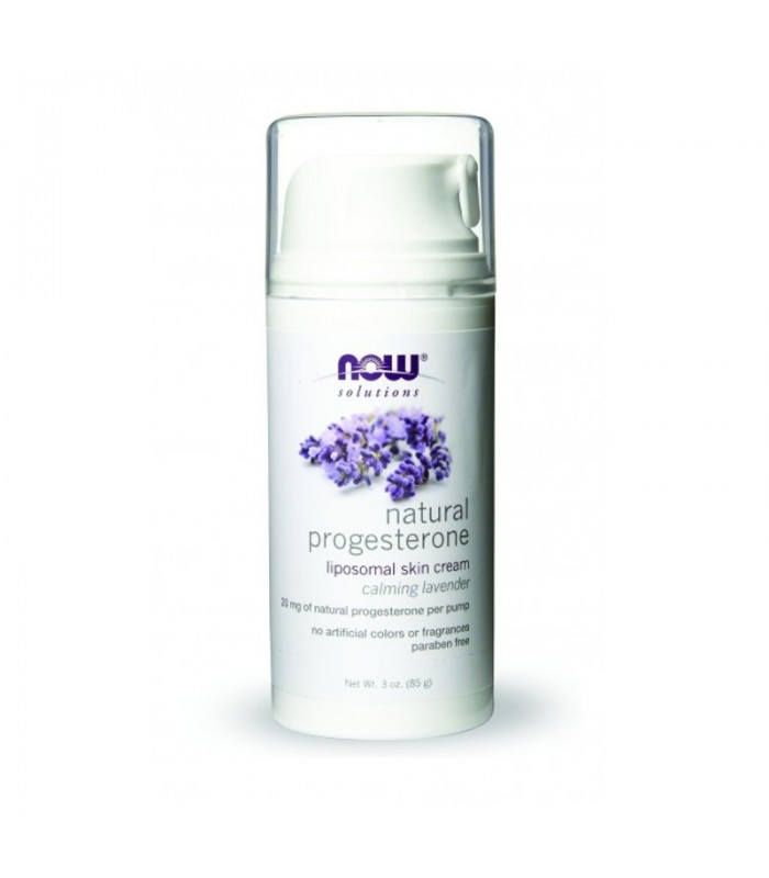 Natural Progesterone Liposomal Skin Cream, Lavender - 3 fl oz, 88,7ml, Now