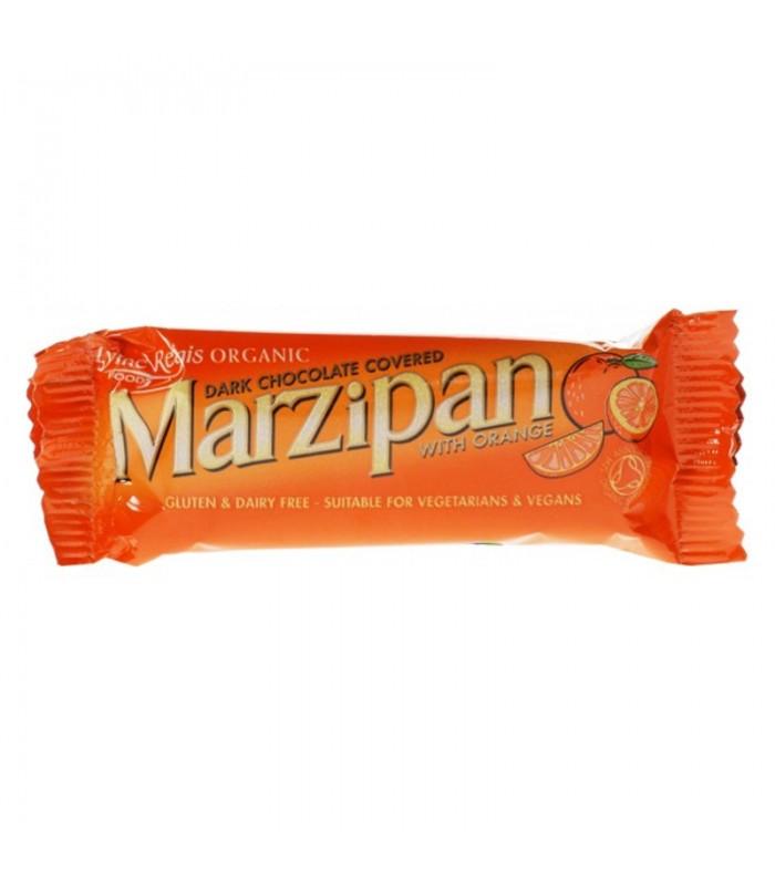 Βιολογική Μπάρα Μάρτζιπαν με Σοκολάτα & Πορτοκάλι Bio 40γρ., Lyme Regis Foods