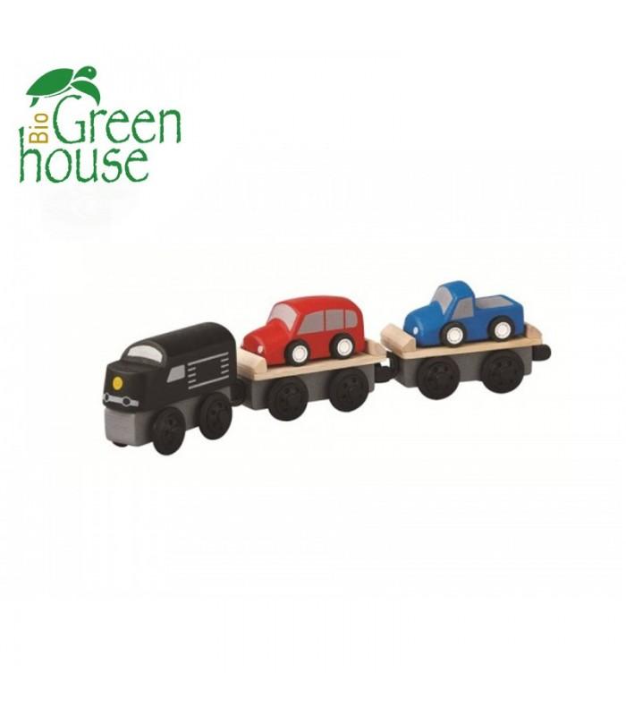 Τρένο Μεταφοράς Οχημάτων, Plantoys