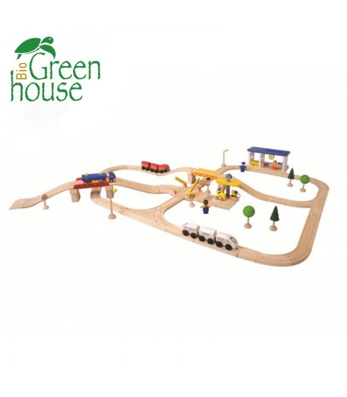 Οδικό και Σιδηροδρομικό Σετ-Πλήρες, Plantoys