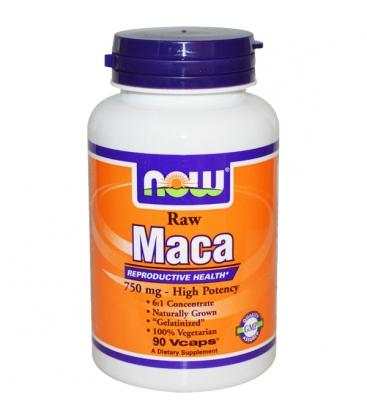 Μάκα 750mg Raw - 90 Vcaps® Now Foods