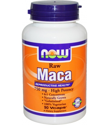 Μάκα 750mg Raw - 90 Vcaps® Now Foods