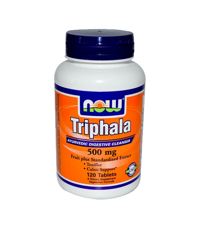 Triphala 500mg - Vegetarian 120 Tabs, Now