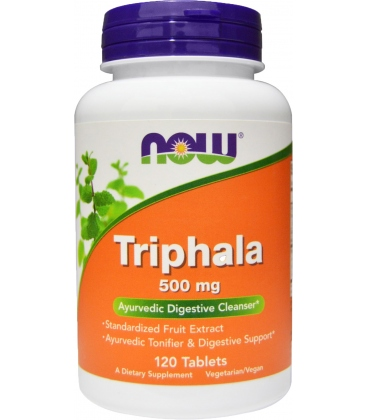 Triphala 500 mg - Vegetarian 120 Tabs Now