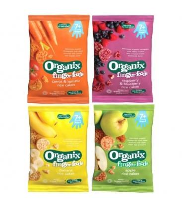 Βιολογικές Ρυζογκοφρέτες με Καρότο & Τομάτα Bio 50γρ., Organix