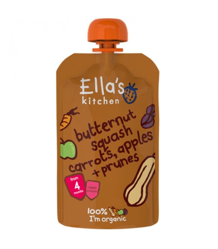 Βιολογικός Πολτός Κολοκύθα Καρότο & Μήλο Bio 130γρ., Ella's Kitchen